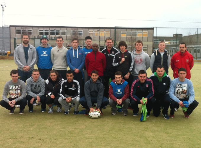 CIT students who tool park in the Lep Rugby course