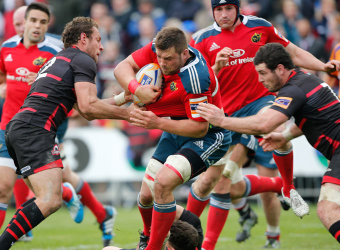 CJ Stander in action against Edinburgh at Meggetland