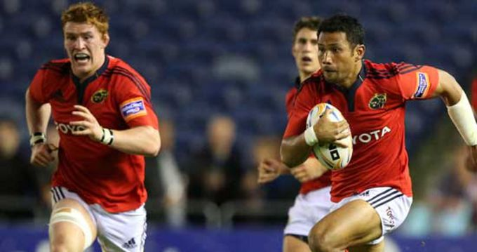 Casey Laulala with Sean Dougall and Ian Keatley all in action tonight in Cardiff