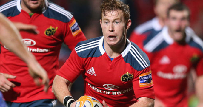 Cathal Sheridan in action for Munster