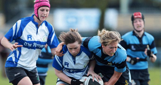 Ciara Kennedy in action for Tralee RFC