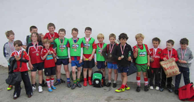 Pictured are the school pupils that took part in the Rugbaí Chorca Dhuibhne Easter Camp