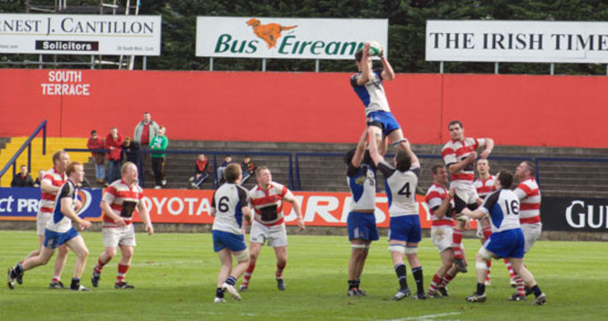 Action from Munster Junior Cup Final between Cork Constitution and Skibbereen