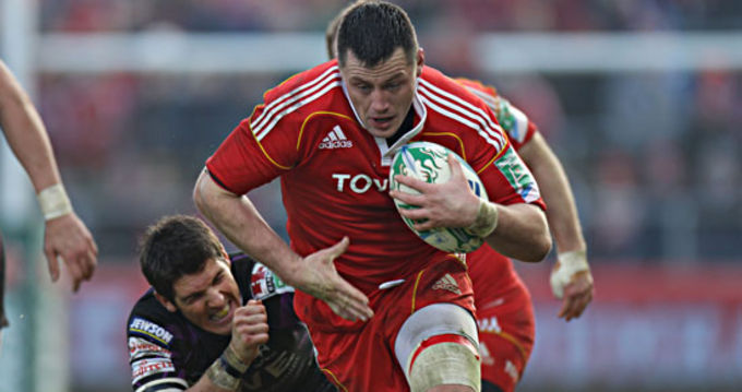 James Coughlan in action against the Ospreys
