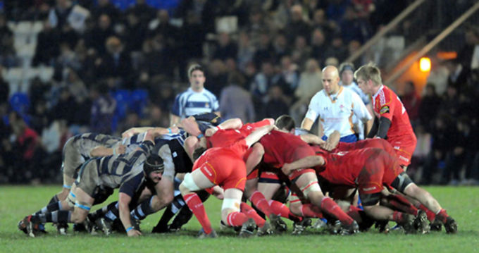 Coventry v Munster in action in the British and Irish Cup