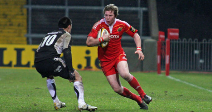 Munster Academy player Danny Barnes in action against Connacht A last week in Thomond Park