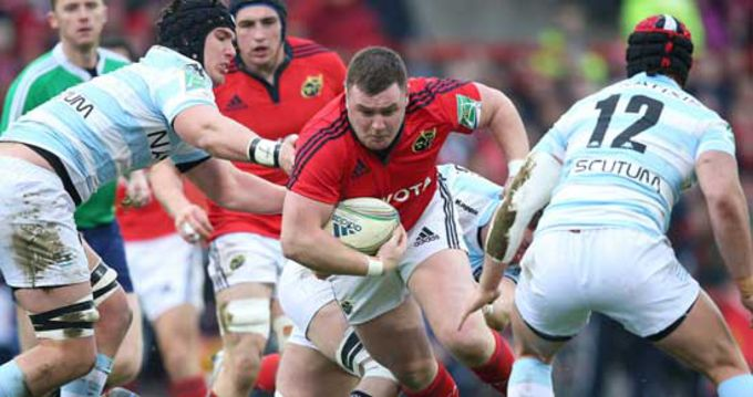 Dave Kilcoyne on the attack against Racing Metro