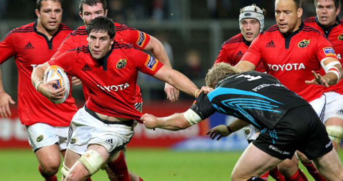 Dave O'Callaghan makes his RaboDirect PRO12 debut against Ospreys in Thomond Park in October 2011
