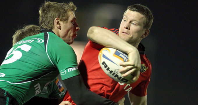 Denis Hurley looks to offload in last night's game against Connacht