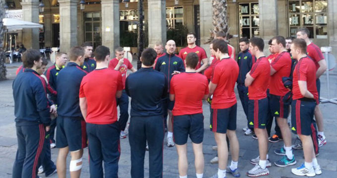 The Munster Developement side in Barcelona