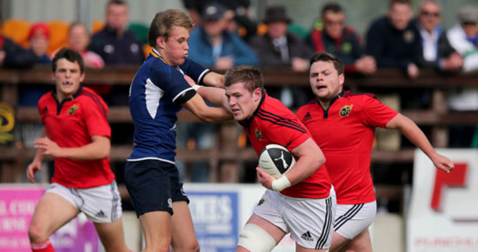 Munster U20 squad player Diarmuid Dee in action during last season's U19 Interprovincial fixture against Leinster