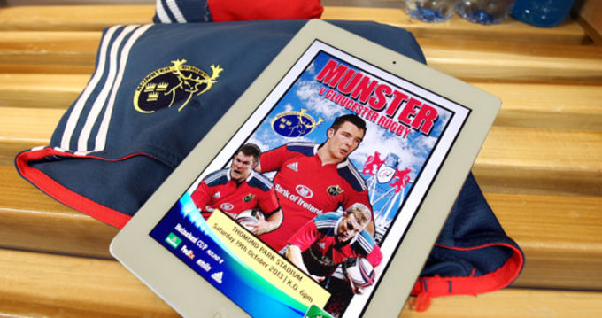 Munster Rugby match programme goes digital