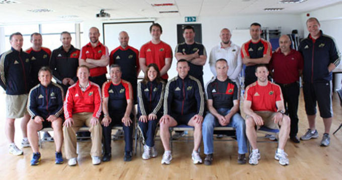 Munster Rugby staff pictured with Steve Aboud of the IRFU