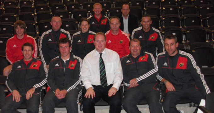 Munster Rugby Domestic Game Staff with Des Ryan IRFU Fitness Education Manager