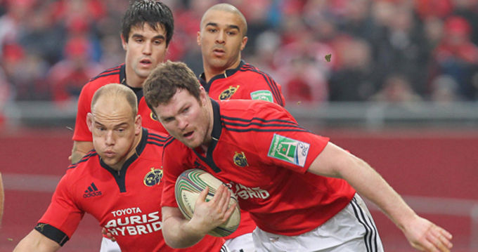 Donnacha Ryan in Heineken Cup action