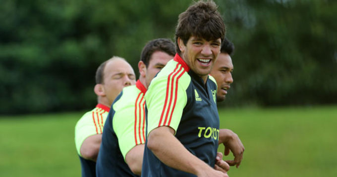 Donncha O'Callaghan at squad training