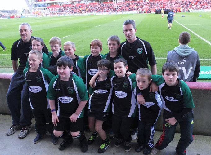Douglas Under 11's pictured recently in Thomond Park Stadium