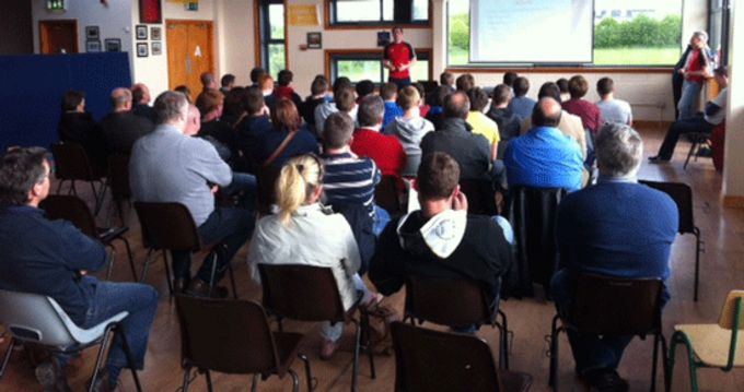 East Munster Cadets and RDS players and their parents attend an Information Evening ahead of their summer programme.