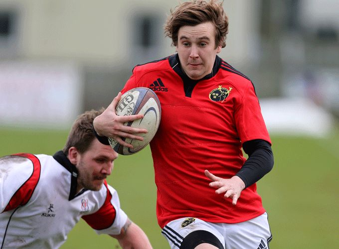 Eoin Duffy from Waterpark in Munster Juniors action against Leinster last Saturday