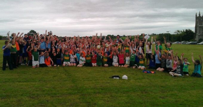 Boys and girls at the blitz day in Estuary RFC