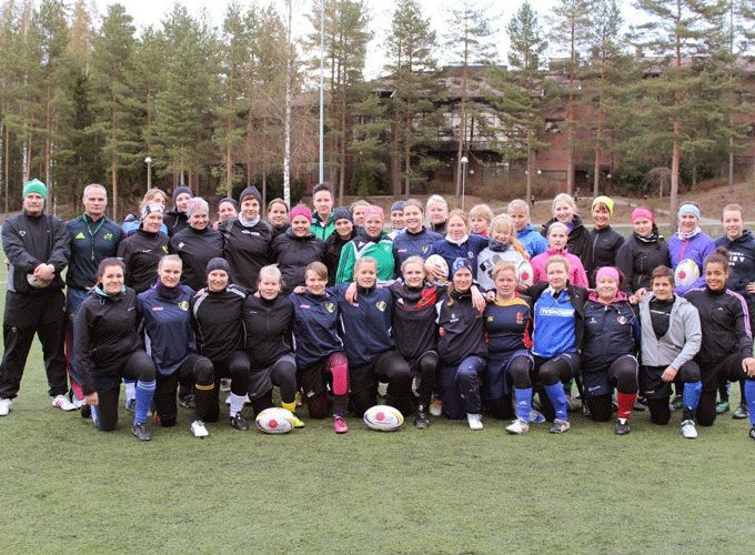Noel O'Meara pictured at a Women's rugby training camp in Finland.