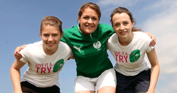 Ireland Captain Fiona Coghlan launches 'Give It A Try' campaign
