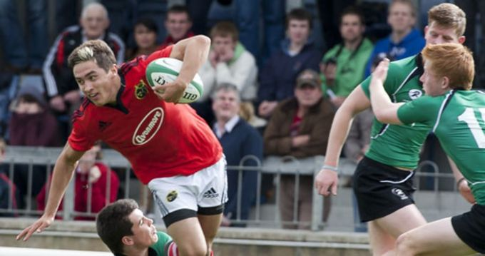 Munster schools player Greg O'Shea, one of eight Munster Schools players that have been selected for the Ireland Under 18 Squad