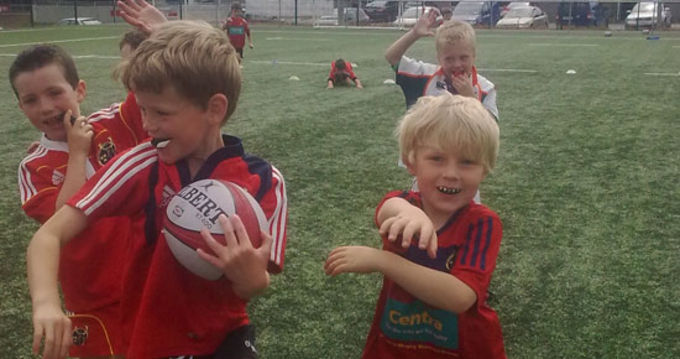 Participants enjoying the first day of Summer Camps 2011 at Garryowen F.C.