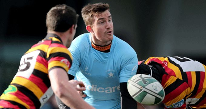 Garryowen's Matt Jarvis in action against last season's league winners Lansdowne