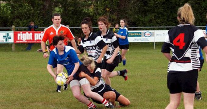 Action at the girls 7's league at Carrick-on-Suir