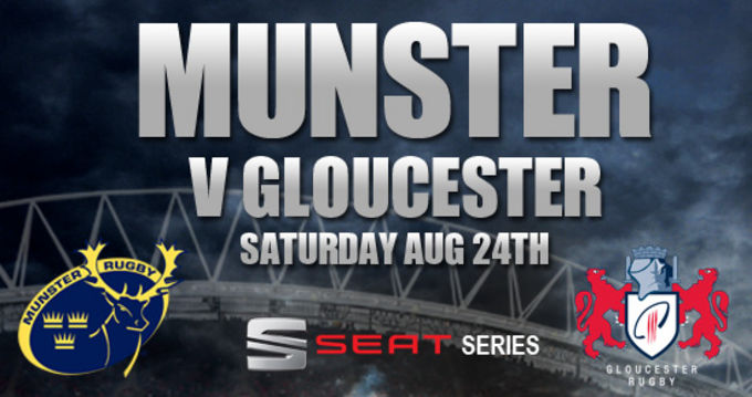 Great hospitality offers available for Munster v Gloucester in the opening pre-season game of the season