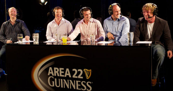 Alan Quinlan and Jerry Flannery at a previous Area 22 night