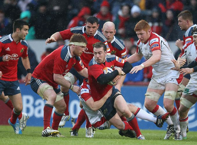 PRO12 Golden Boot winner JJ Hanrahan in action against Ulster at the weekend