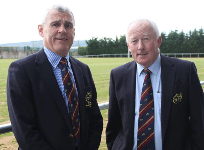 Past President of the Munster Branch John Hartery alongside new President Mick Goggin