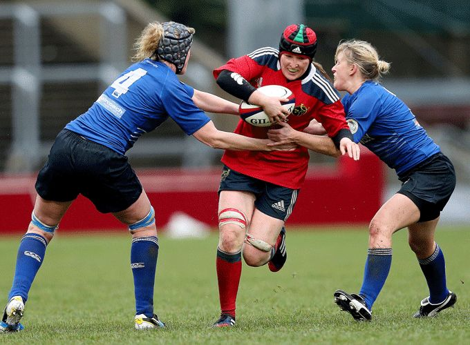 Heather O'Brien on the charge for Munster during the 2013 interprovincial series.