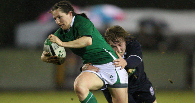 Munster's Helen Brosnan in action for Ireland during the Six Nations