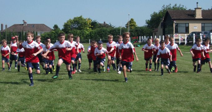 Children taking part in the Munster Rugby Summer Camp at Highfield RFC