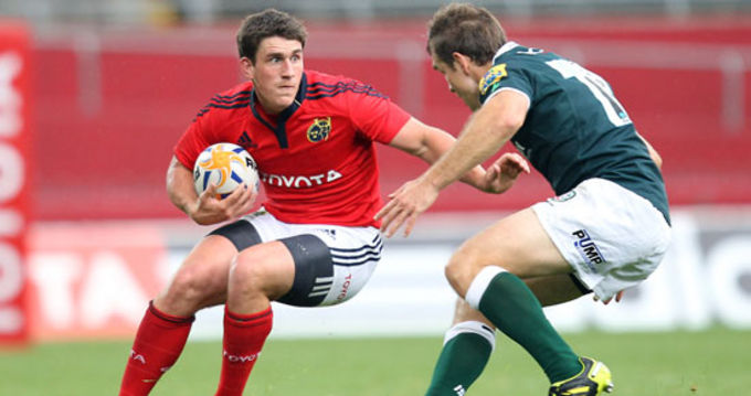 Ian Keatley making his Thomond Park debut for Munster