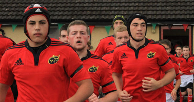 Munster captain Idris Rqibi leads his team out to face Connacht last Sunday in Highfield RFC