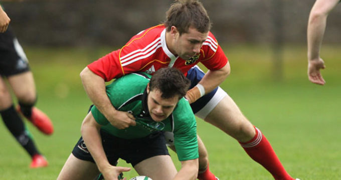 JJ Hanrahan in action for the Munster U20s
