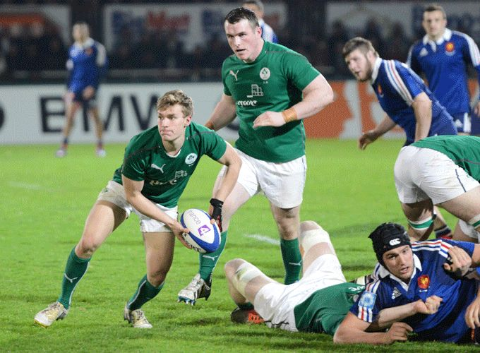 Munster Academy's Jack Cullen in Six Nations action for the Irish U20s