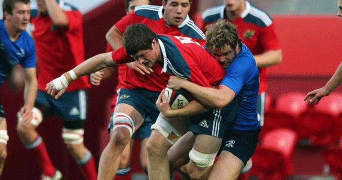 Munster Captain Jack O'Donoghue in action