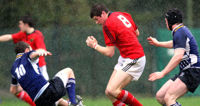 Jack O'Donoghue, Waterpark RFC in action