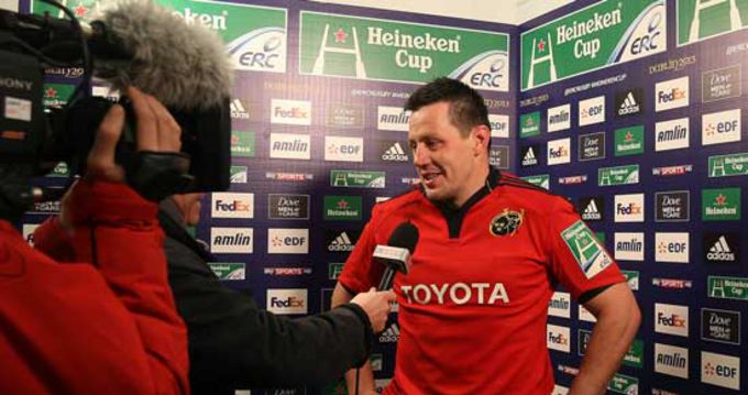 James Coughlan interviewed after Munster's win in Thomond Park