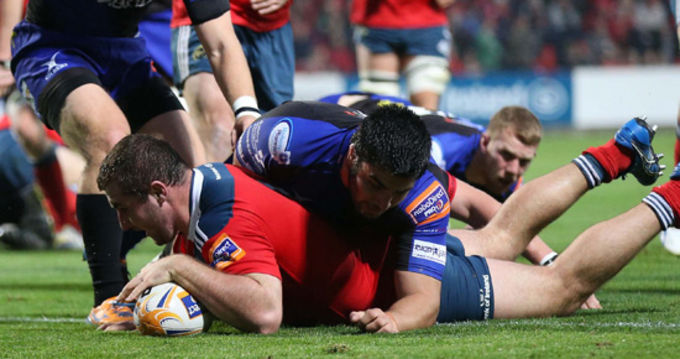 James Cronin scores Munster's opening try