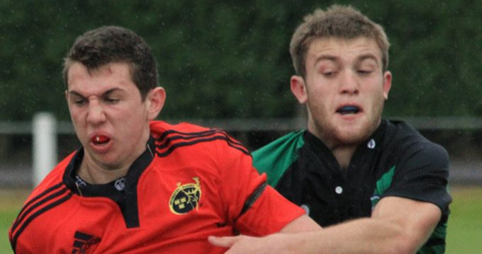 Clonakilty's Joe White (left), who was involved in last week's trial matches.
