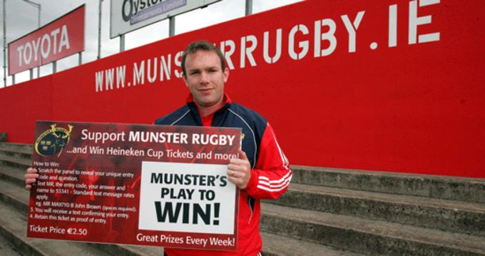 John Kelly, Munster's Play To Win Launch.