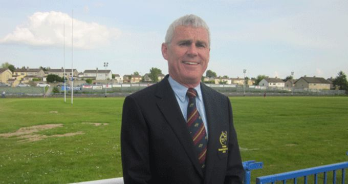 John Hartery pictured at his club grounds, Thomond RFC