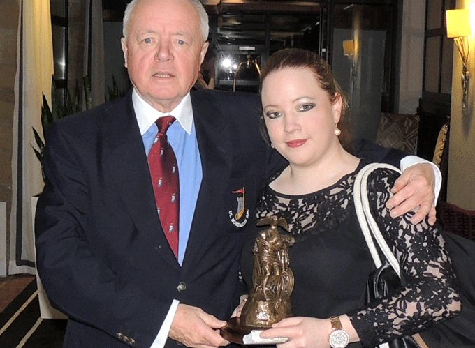 John Keane and his daughter Katherine pictured with the Limerick Services to Sports Award