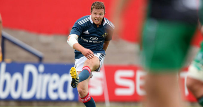 Johnny Holland in action for Munster A v Connacht Eagles in Musgrave Park